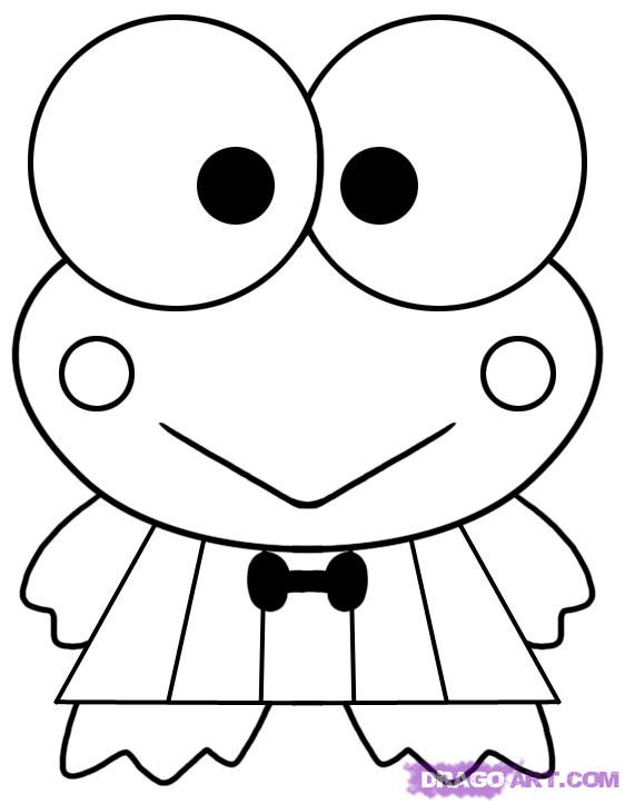 free keroppi coloring pages - photo #4