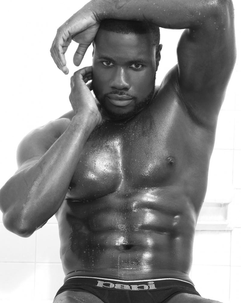 Straight male porn model