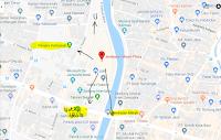 Peta lokasi Titik Jemput Penumpang Ojek Online Gojek-Grab di Jembatan Merah Plaza Surabaya