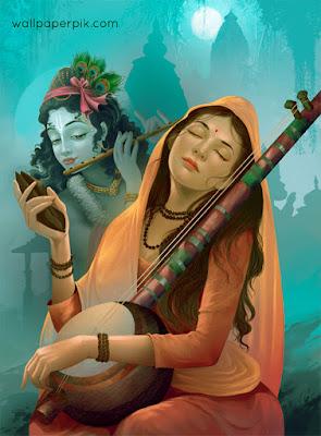 meera  krishna wallpaper krishna meera  wallpaper