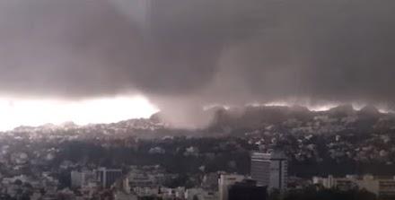 Ανεμοστρόβιλος στην Αθήνα 22.10.2015 (video)
