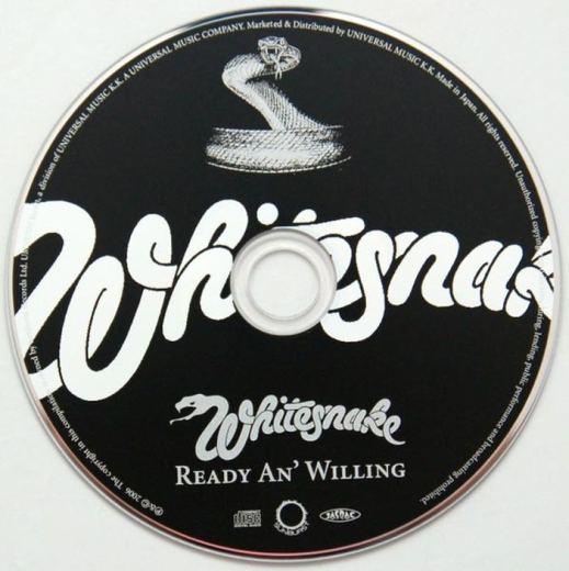 WHITESNAKE - Ready An' Willing [Japan SHM-CD remastered MiniLP +5] disc