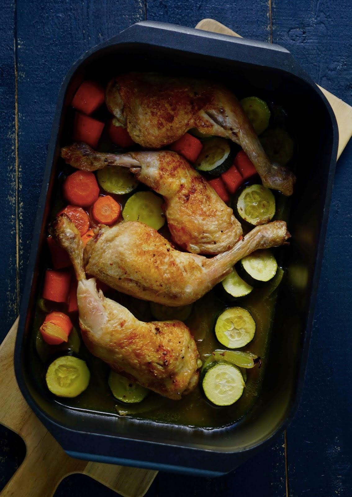 legumes , carottes , courgettes , cumin , bouillon de volaille , recette facile