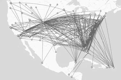 frontier airlines map