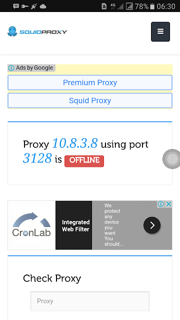 Daftar Proxy Squid 2017 Untuk Internet Gratis Tunnel SSH Http Injektor