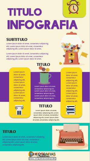 Plantilla para Infografia editable en Word modelo 07