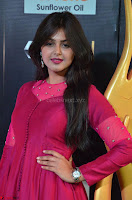Monal Gajjar in Maroon Gown Stunning Cute Beauty at IIFA Utsavam Awards 2017 001.JPG