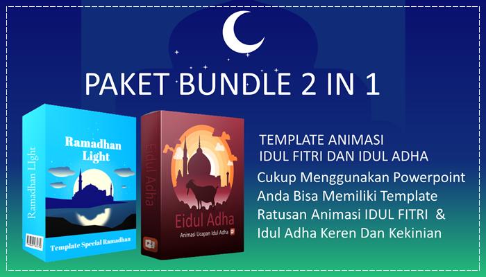 Paket Bundle 2 in 1 Ramadhan Light dan Eidul Adha Template Powerpoint