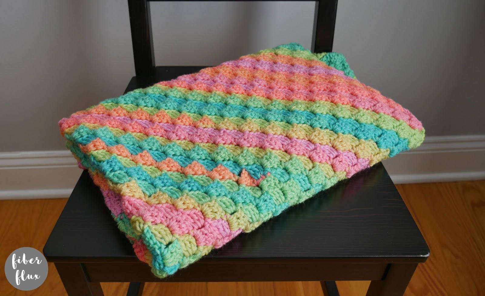 Fiber Flux Rainbow Sherbet Blanket, Free Crochet Pattern + Video