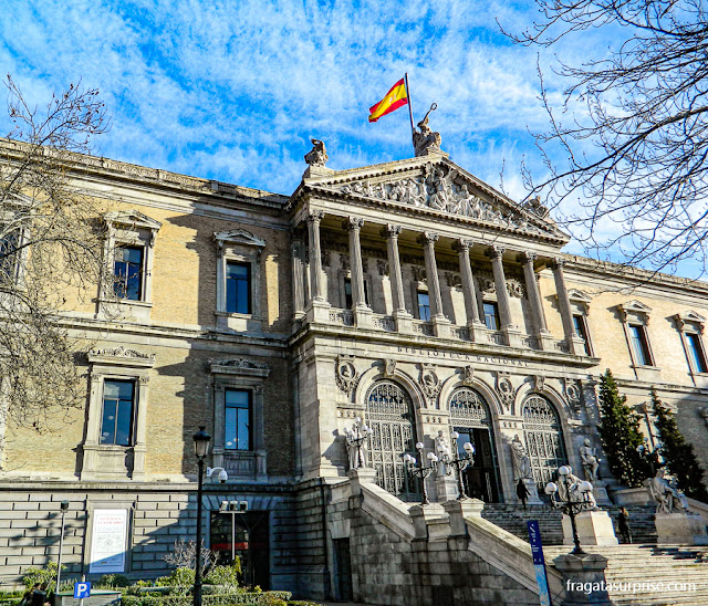 Madri: Biblioteca Nacional de Espanha, no Paseo de los Recoletos