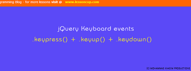 jQuery Keyboard Events | Lessoncup Programming Blog