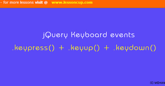 jQuery Keyboard Events