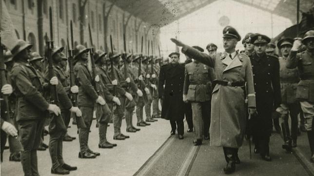Llegada de Himmler a Madrid