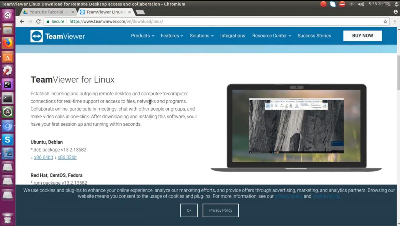 teamviewer 10 ubuntu 18.04