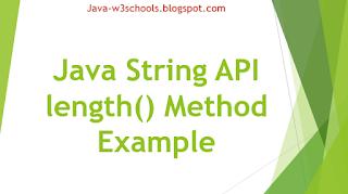 Java String API length() Method Example