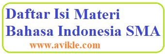 Daftar Isi Materi Bahasa Indonesia SMA