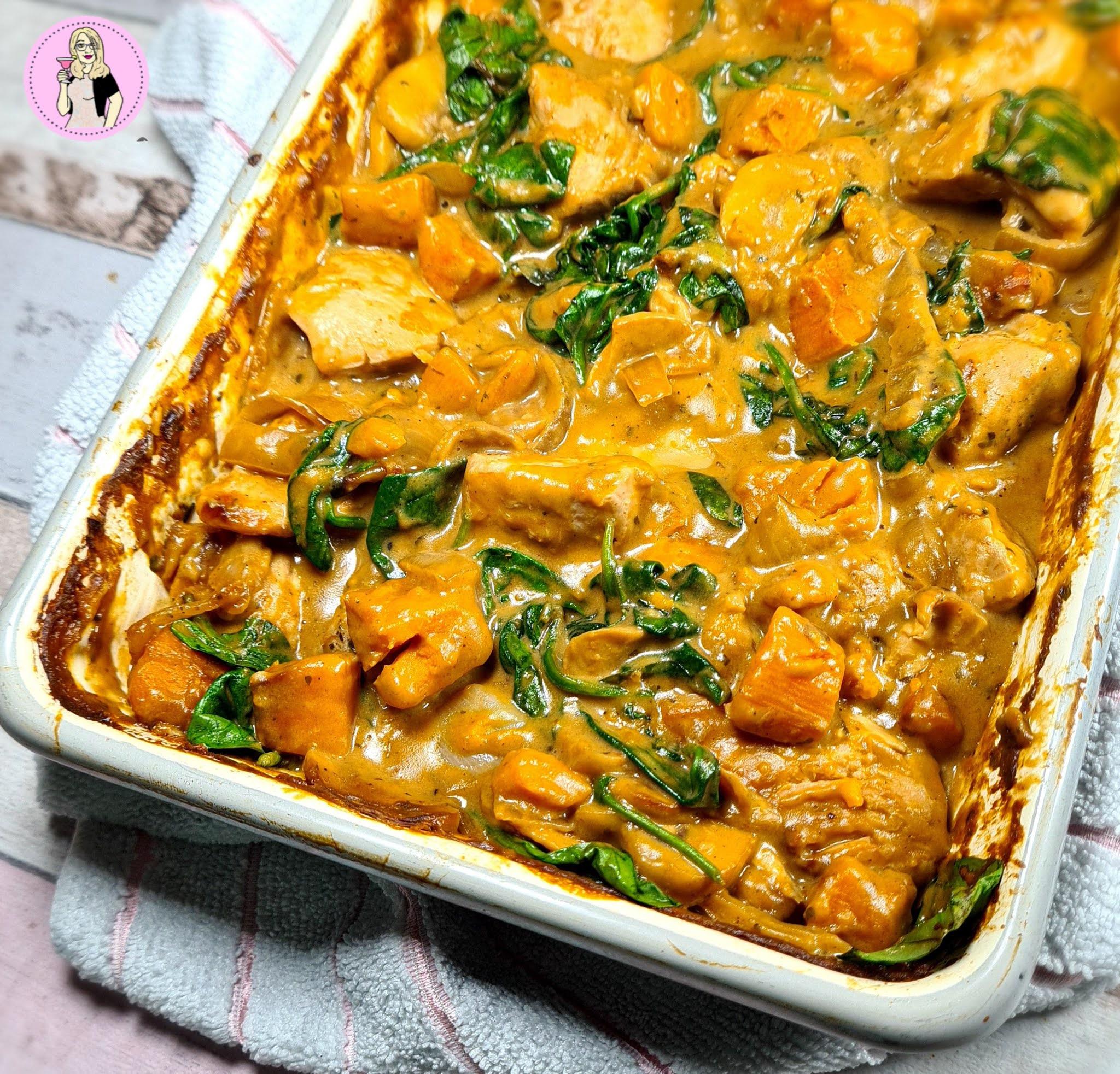 Chicken, Sweet Potato & Spinach Bake Recipe | Slimming Friendly
