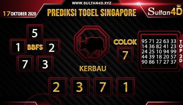 PREDIKSI TOGEL SINGAPORE SULTAN4D 17 OKTOBER 2020