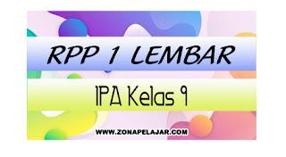 RPP 1 Lembar IPA Kelas 9