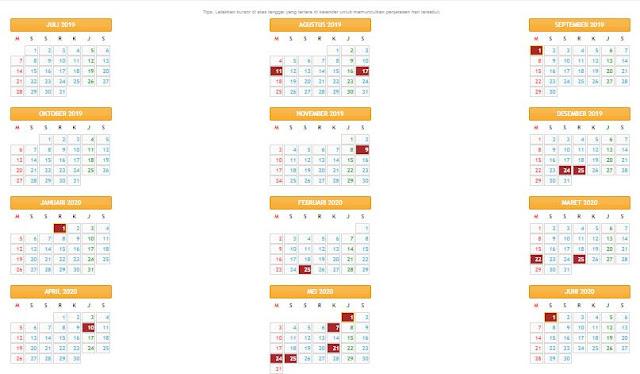 Kalender Pendidikan Tahun Ajaran 2019/2020 Provinsi Aceh