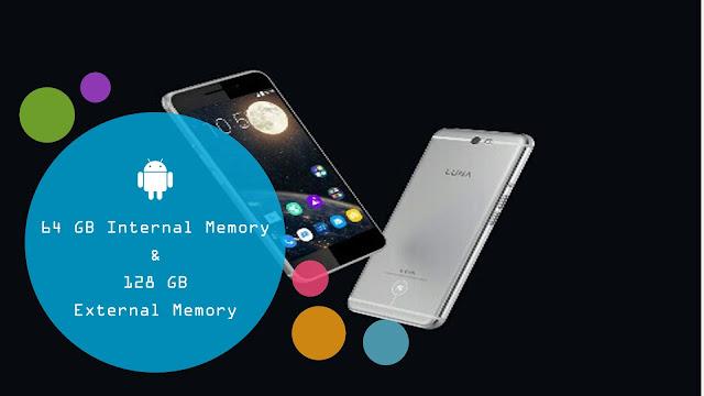 Memori Internal dan Eksternal Luna Smartphone Besar