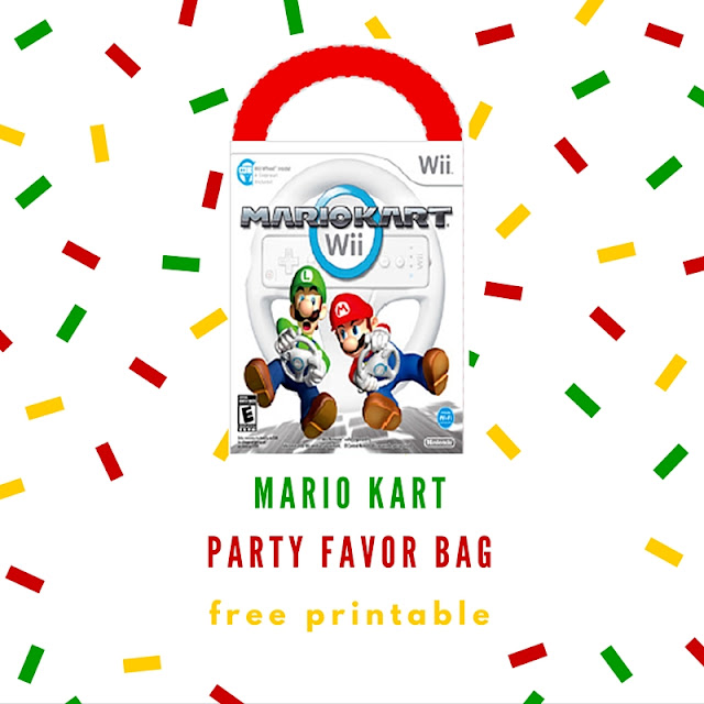 Mario Kart party favor bag - free printable