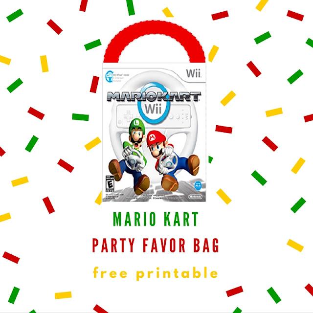 Mario Kart party favor bag - free printable