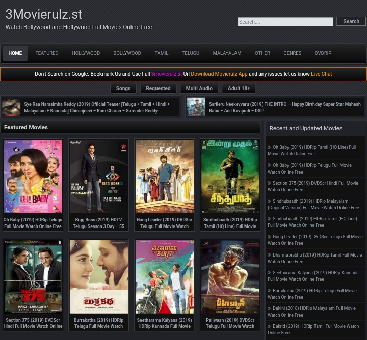 Download latest movies on movierulz website