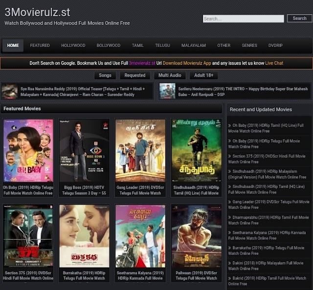Movierulz : Download Latest Bollywood, Telugu and Hollywood movie in HD+ Quality uh