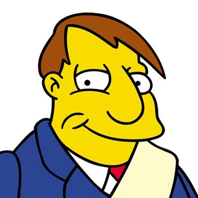 Los Simpson Personaje Alcalde Quimby