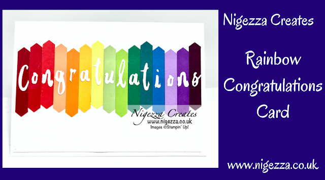 Nigezza Creates with Stampin' Up! & Word Wishes Rainbow Congratulations Card