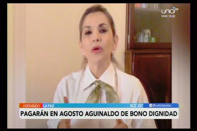 Áñez decide adelantar aguinaldo de la Renta Dignidad; se pagará en agosto