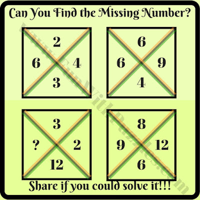Tricky crossed square math brain teaser riddle