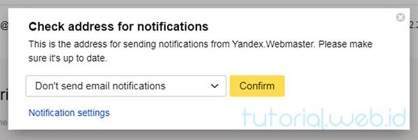 Cara Submit Blog ke Yandex 5 Pilih Confirm