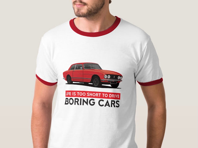 Life is too short to drive boring cars - Black Bristol 411 s5 - 70's classic car T-shirt