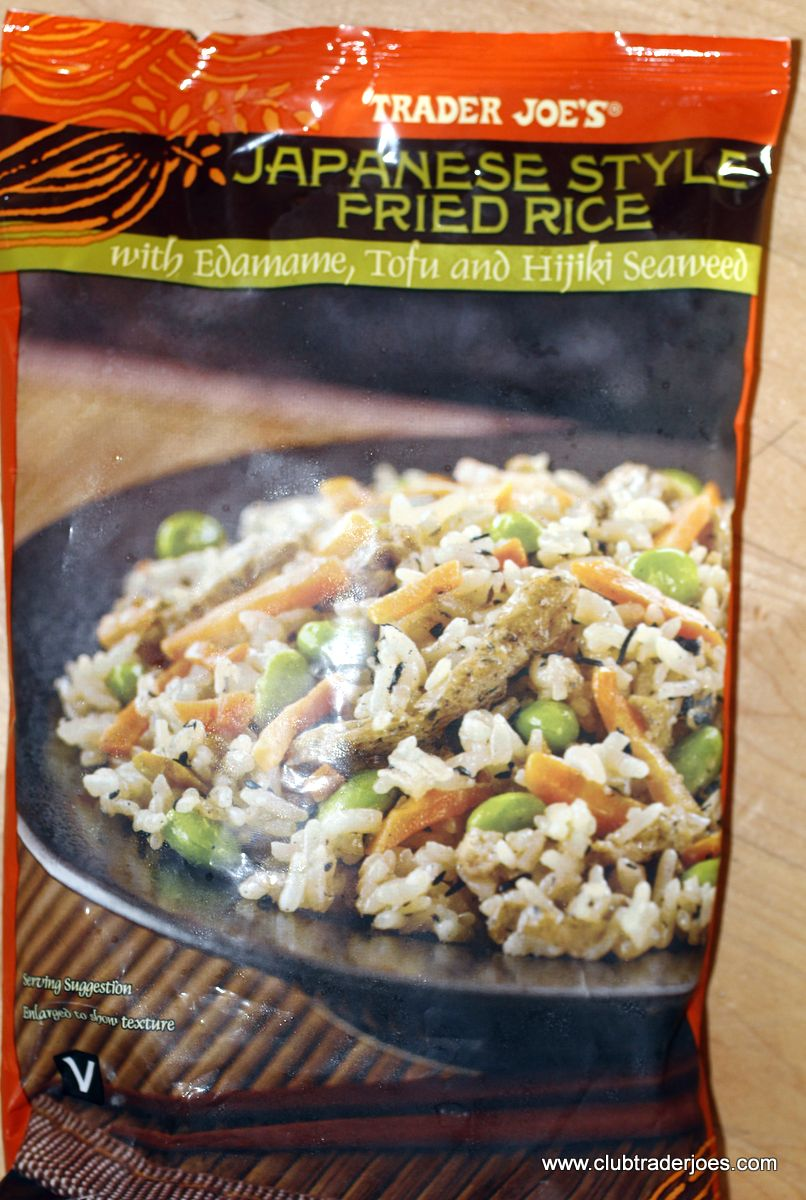 Trader Joe's Japanese Styled Fried Rice with Edamame, Tofu and ...