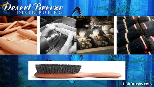 Wild Boar Bristle Hair Brush Butterfly Boar Brush