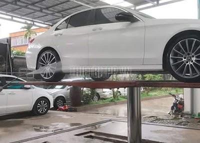 Giá cầu nâng ô tô 1 trụ rửa xe ở đâu rẻ nhất và an toàn nhất