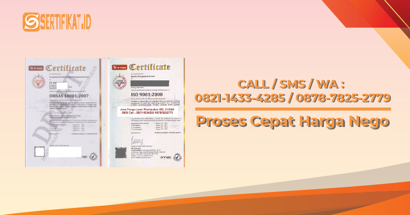 Sertifikat ISO OHSAS