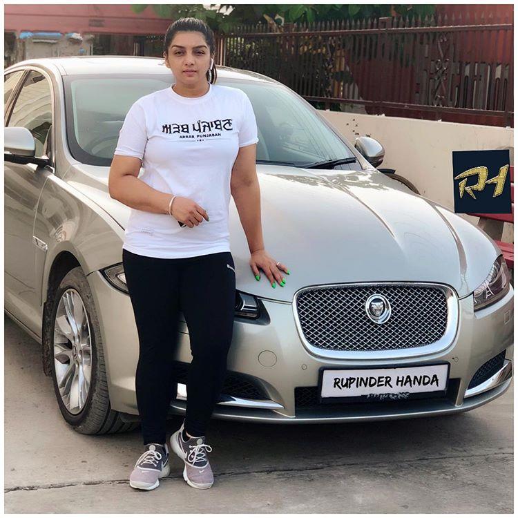 New Car Buy Punjabi Girl pictures Rupinder Handa