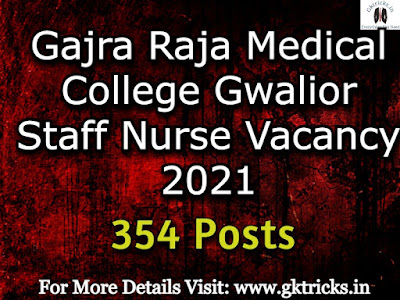 GRMC Gwalior Staff Nurse Merit List 2021