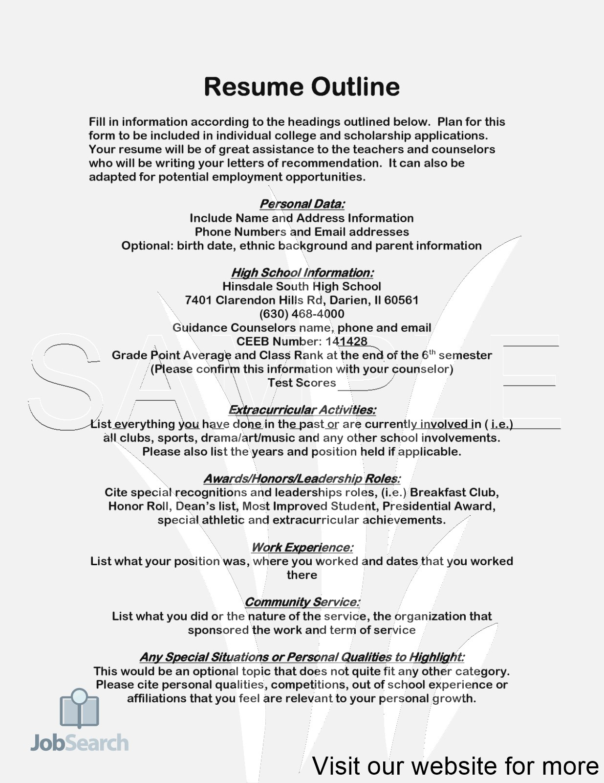 Scholarship Resume Template Google Docs
