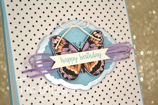 scissorspapercard, Stampin' Up!, Art With Heart, Sale-A-Bration, Itty Bitty Birthdays, Picture Perfect Birthday, Botanical Butterflies DSP, Sweet Pins and Tags