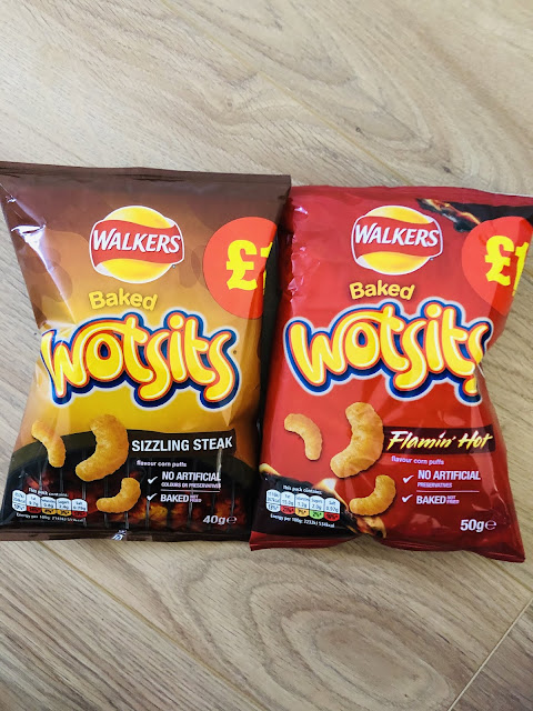 Wotsits Flamin' Hot / Sizzling Steak packets