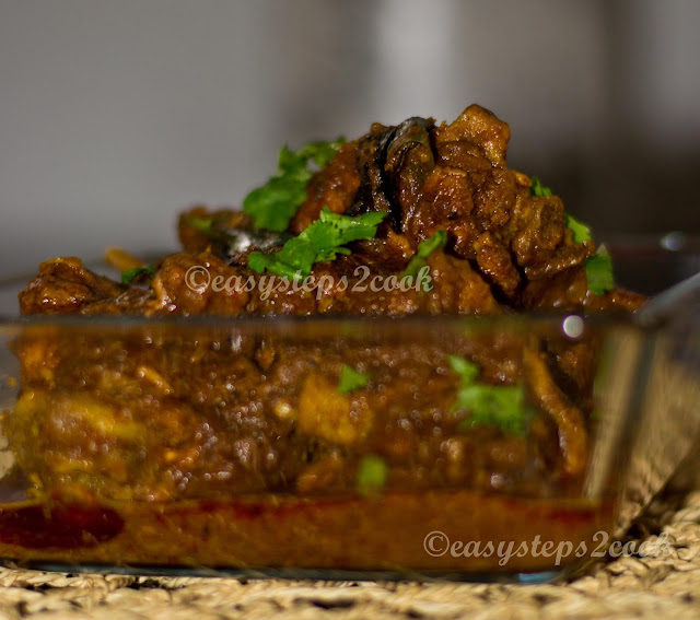 south Indian chicken curry named chettinad chicken