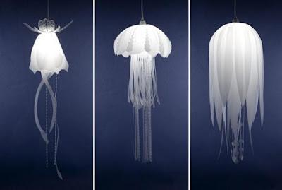 Diseño industrial de lampara única y divertida de medusa
