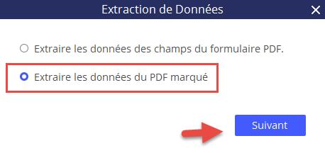 Extraire les données du pdf marqué