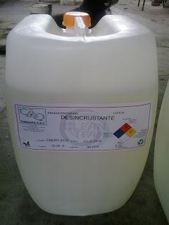 Detergentes y productos químicos para el Mantenimiento Industrial.