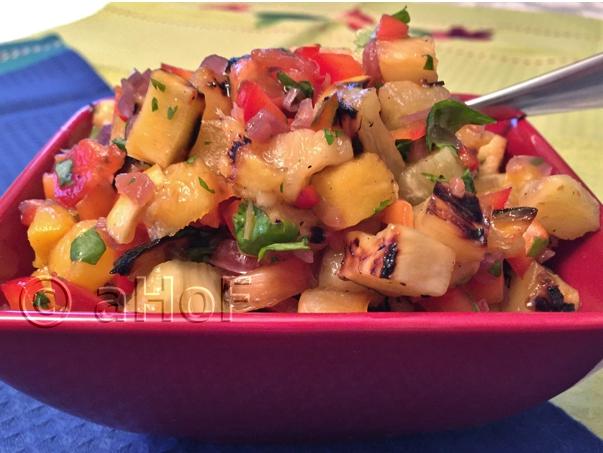 Grilled Pineapple Mango Salsa