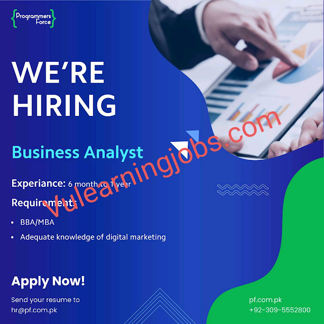 Programmers Force Jobs 2020 In Pakistan For Business Analyst Latest